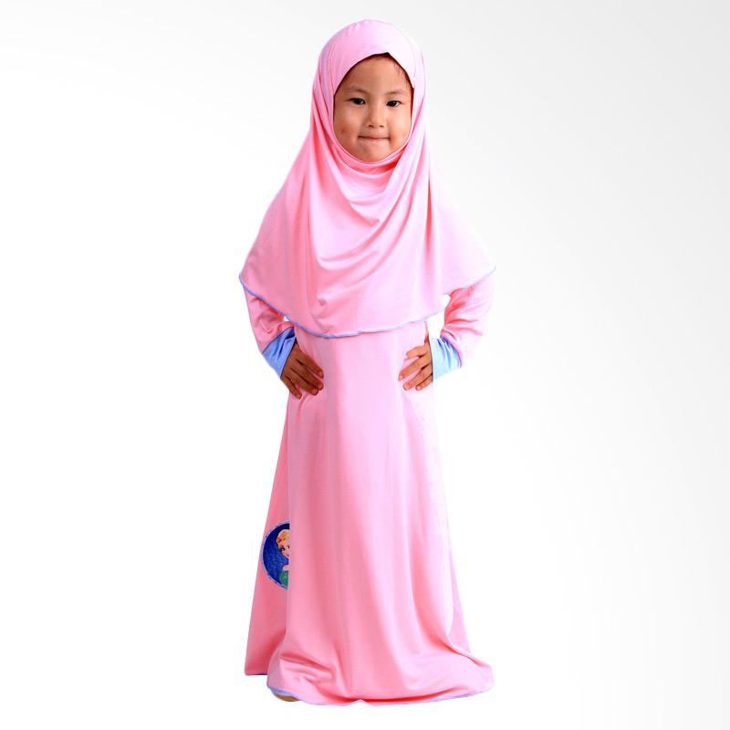 Chloe Babyshop Gamis Frozen Jilbab F560 - Peach