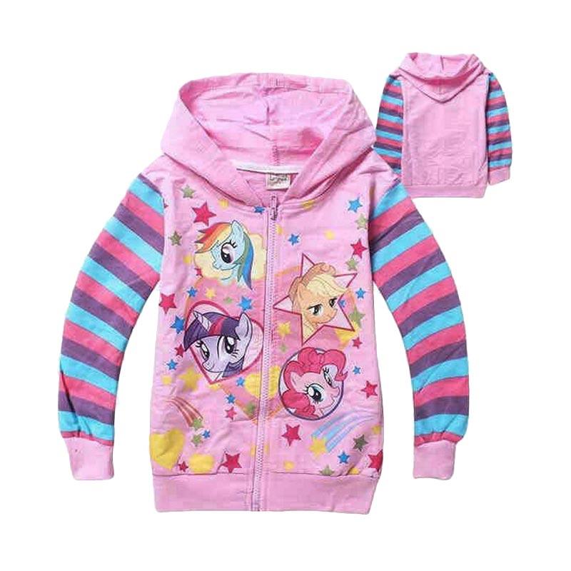 Chloe Babyshop Hoodie Pony F716 Peach Jacket Anak