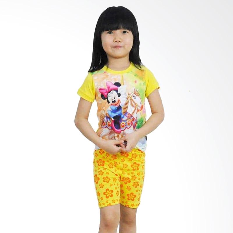 Chloe Babyshop J2 F790 Minnie Kitty Setelan Anak - Kuning