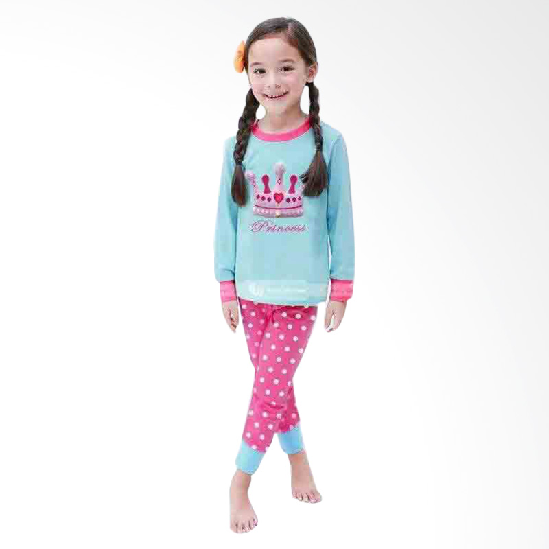 Chloe Babyshop Pajamas GW Led Flashing Princess F784 Setelan Anak - Biru