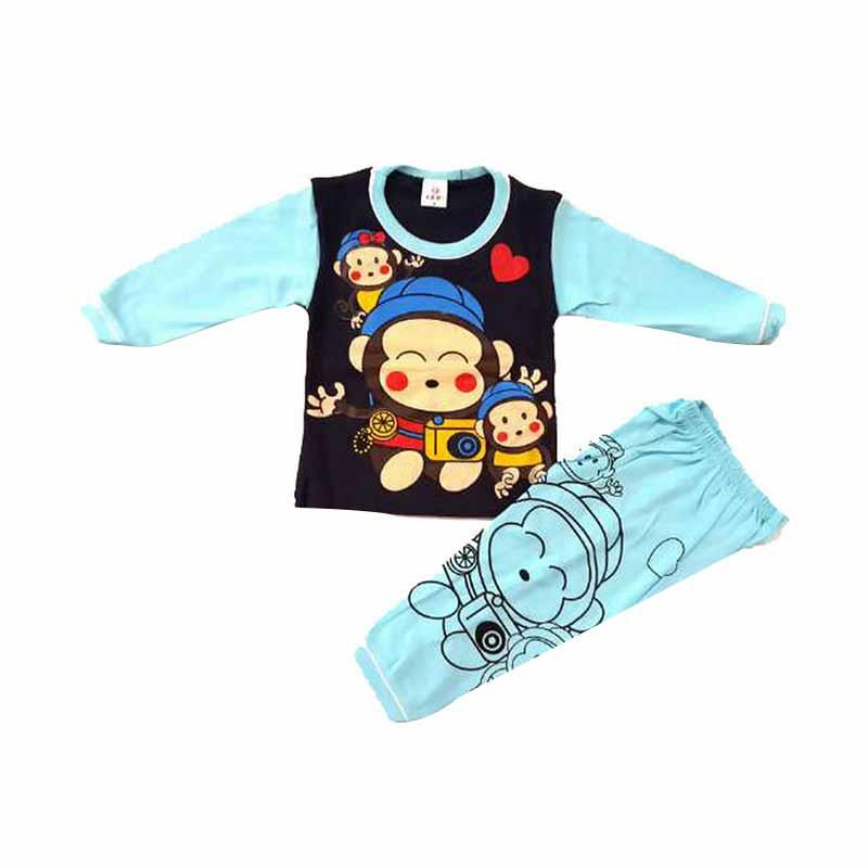 Chloe Babyshop F449 3 monkey Piyama Setelan Pakaian Anak