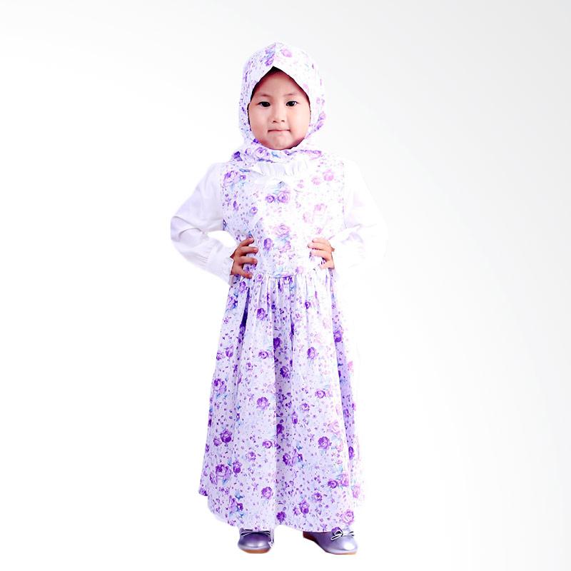 Chloe Babyshop Rose Flower F562 Gamis Anak - Purple