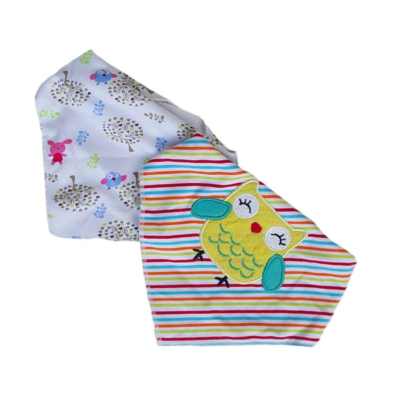 Chloe Babyshop Segita Owl BB10D Bib Sleber - Multicolour