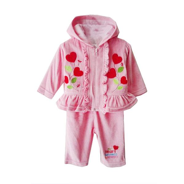 Chloe Babyshop F826 Flower Heart Setelan Pakaian Anak