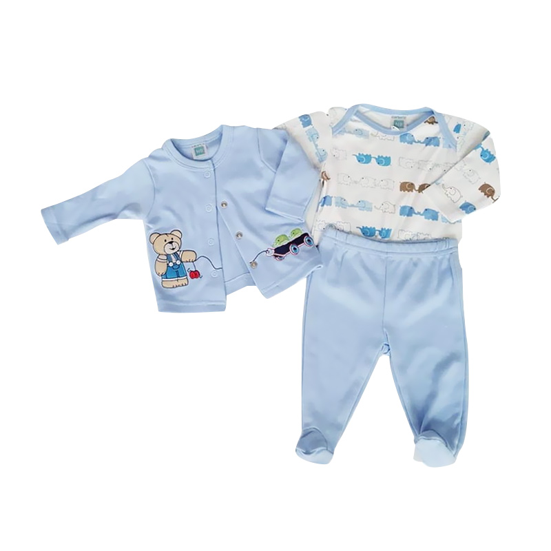 Chloe Babyshop Starter Set 3 in 1 Bear Elephant F836 Setelan Anak