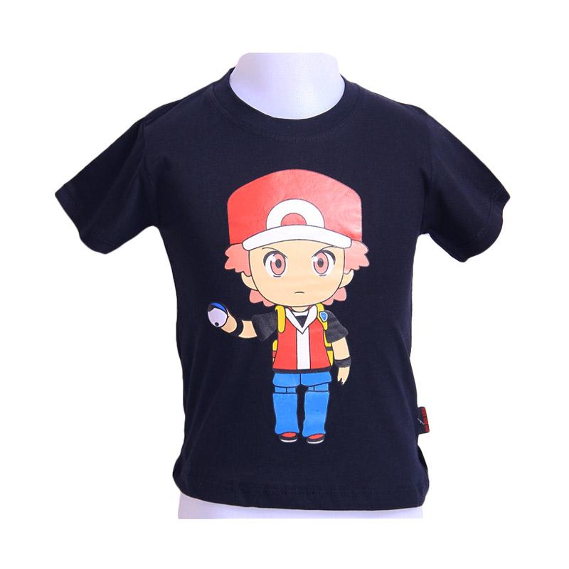Chloebaby Shop Pokemon Hold The Ball F922 T-Shirt - Hitam