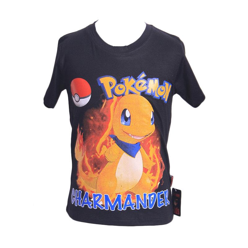Chloebaby Shop T-Shirt Pokemon Charmander F917 Atasan Anak