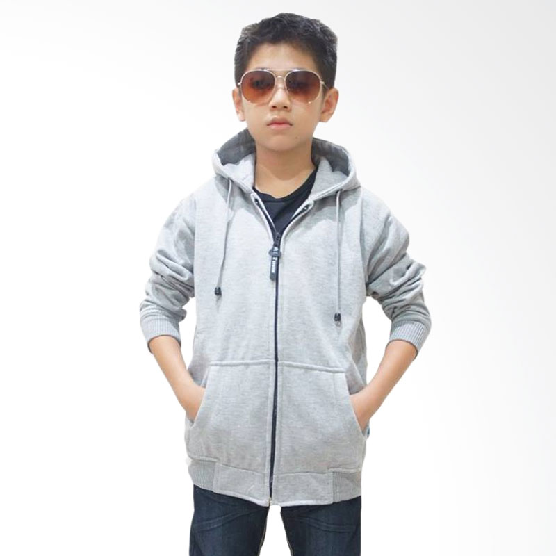 Chloe Babyshop Top Kids Jaket Anak - White Grey Polos