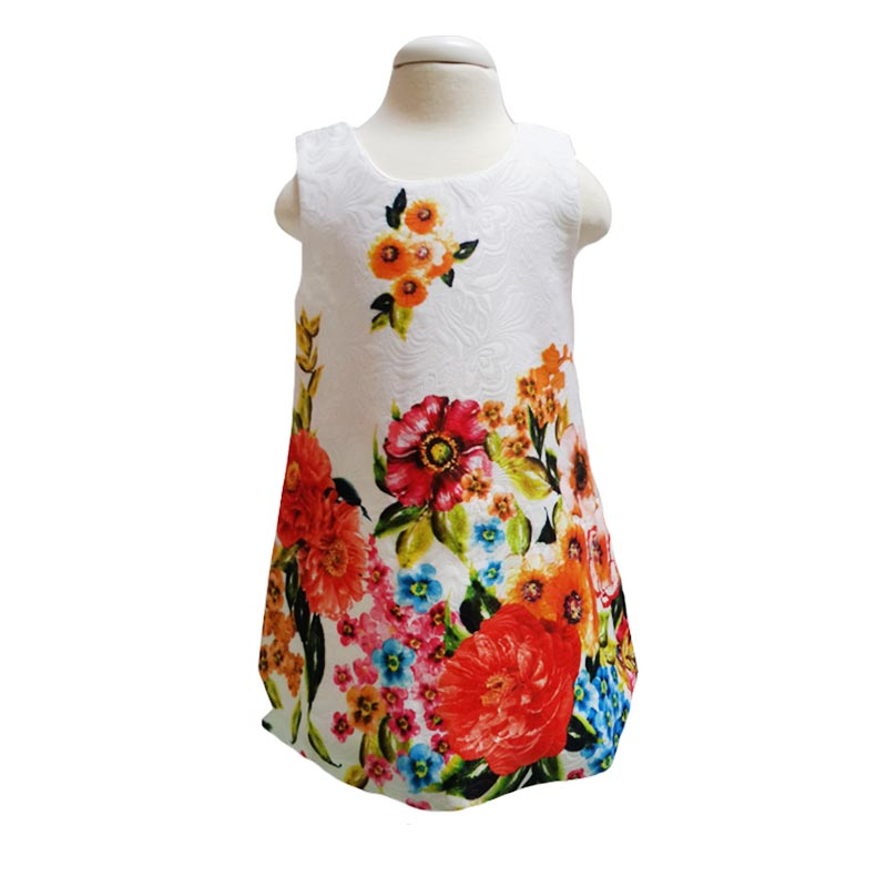 Chloe Flower C7 Import Dress Anak