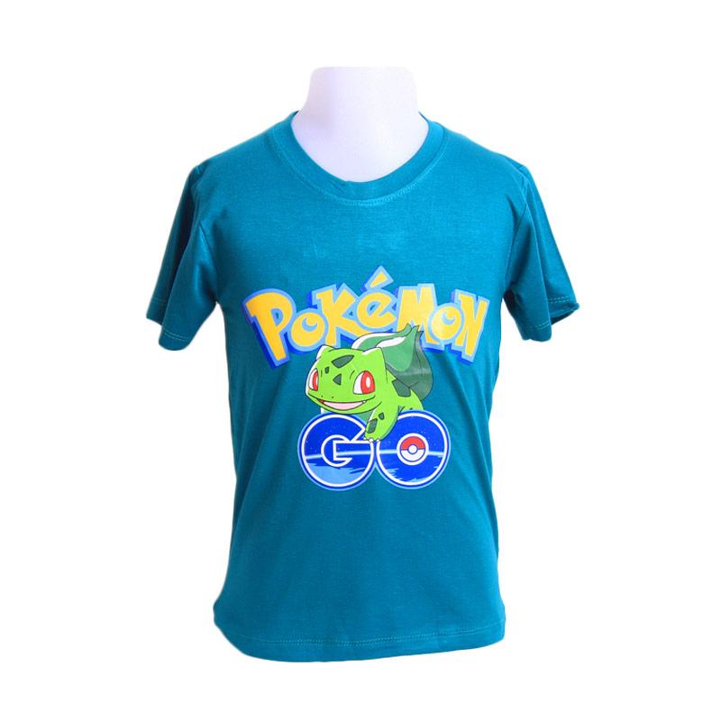 Chloebaby Shop T- Shirt Pokemon Go Frog F921 Atasan Anak - Hijau