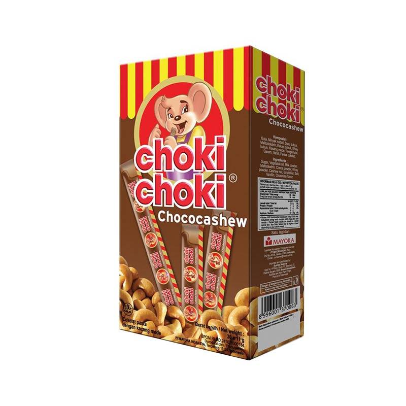 Choki-Choki Pasta Chococashew [20 stick/11 g] Cemilan