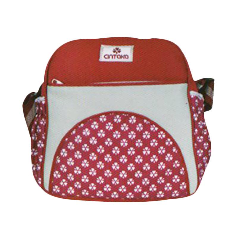 Cintaka TCT850100 Medium Saku Motif Print Hati Tas Bayi - Merah