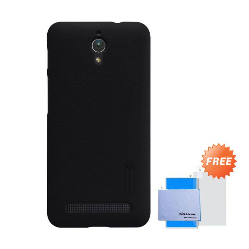 Nillkin Super Frosted Shield Hitam Casing for Asus Zenfone C + Screen Guard