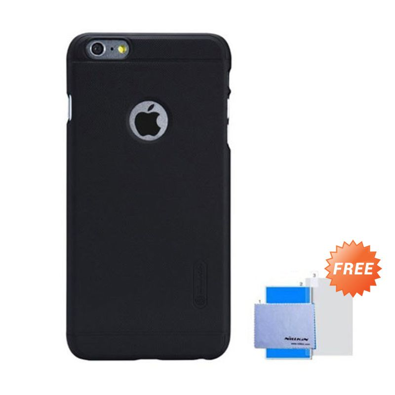 Nillkin Super Frosted Shield Black Casing for iPhone 6 Plus + Anti Gores