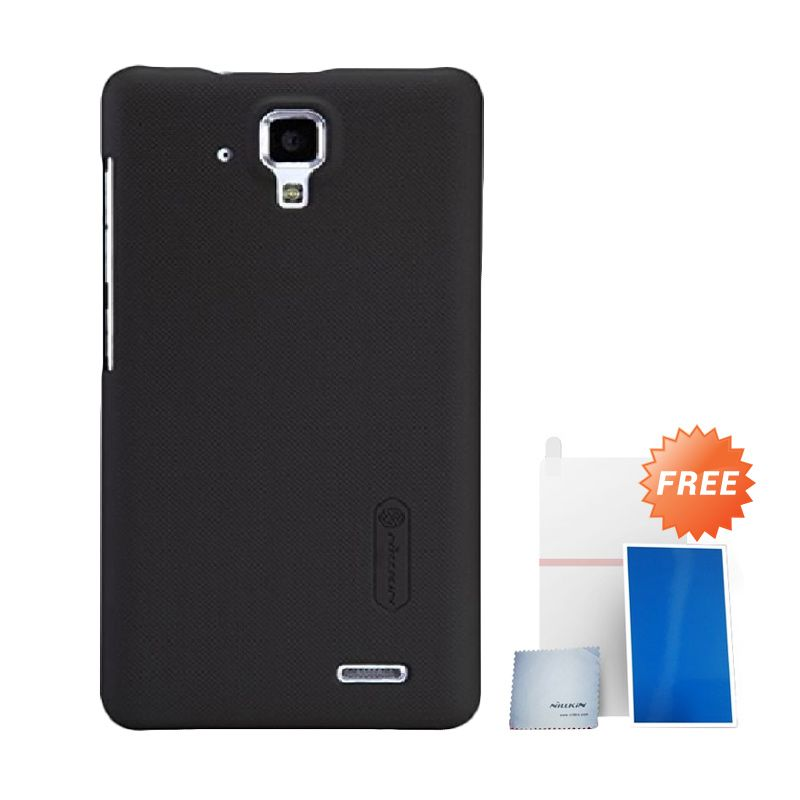 Nillkin Super Frosted Shield Black Casing For Lenovo A536 + Anti Gores