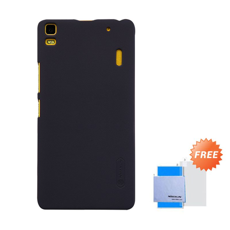 Nillkin Super Frosted Shield Black Casing For Lenovo K3 Note/A7000 + Anti Gores
