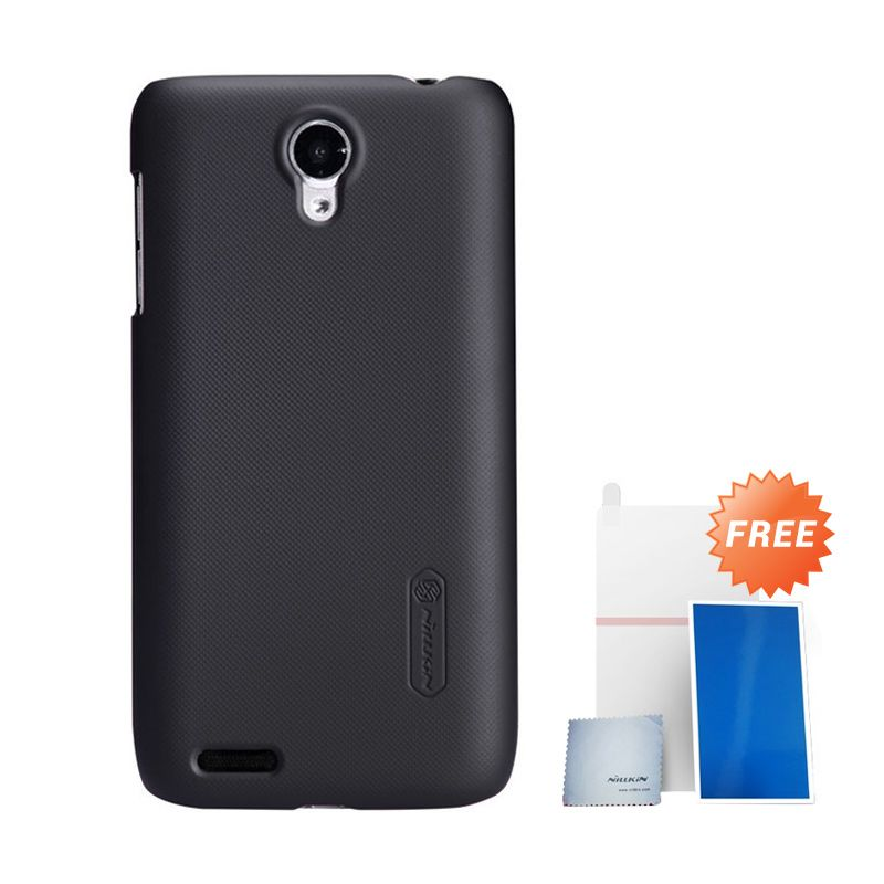 Nillkin Super Frosted Shield Black Casing For Lenovo S650 + Anti Gores