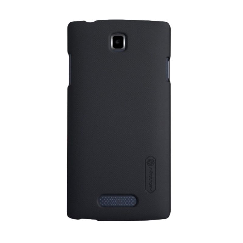 Nillkin Super Frosted Shield Black Casing for Oppo R831S + Anti Gores