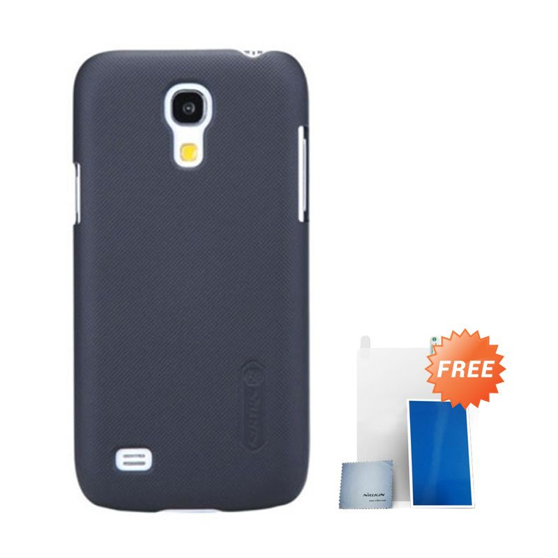 Nillkin Super Frosted Shield Black Casing For Samsung S4 + Anti Gores