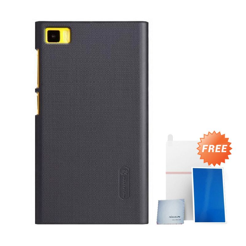 Nillkin Super Frosted Shield Black Casing For Xiaomi M 3 + Anti Gores