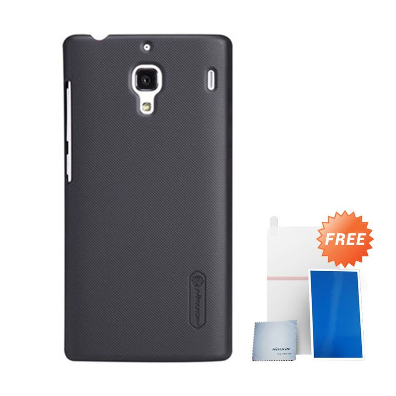 Nillkin Super Frosted Shield Black Casing For Xiaomi Redmi 1S + Anti Gores