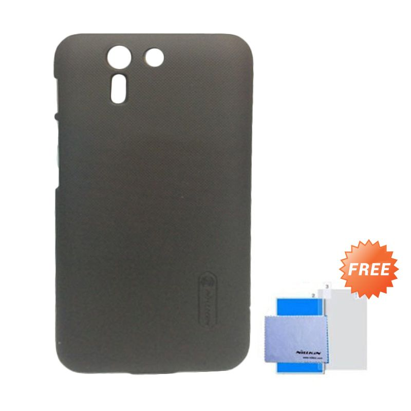 Nillkin Super Frosted Shield Brown Casing for Asus Padfone S + Anti Gores