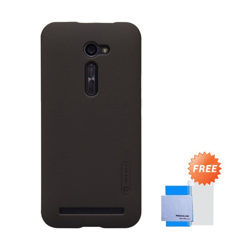 Nillkin Super Frosted Shield Brown Casing for Asus Zenfone 2 ZE500CL + Screen Guard