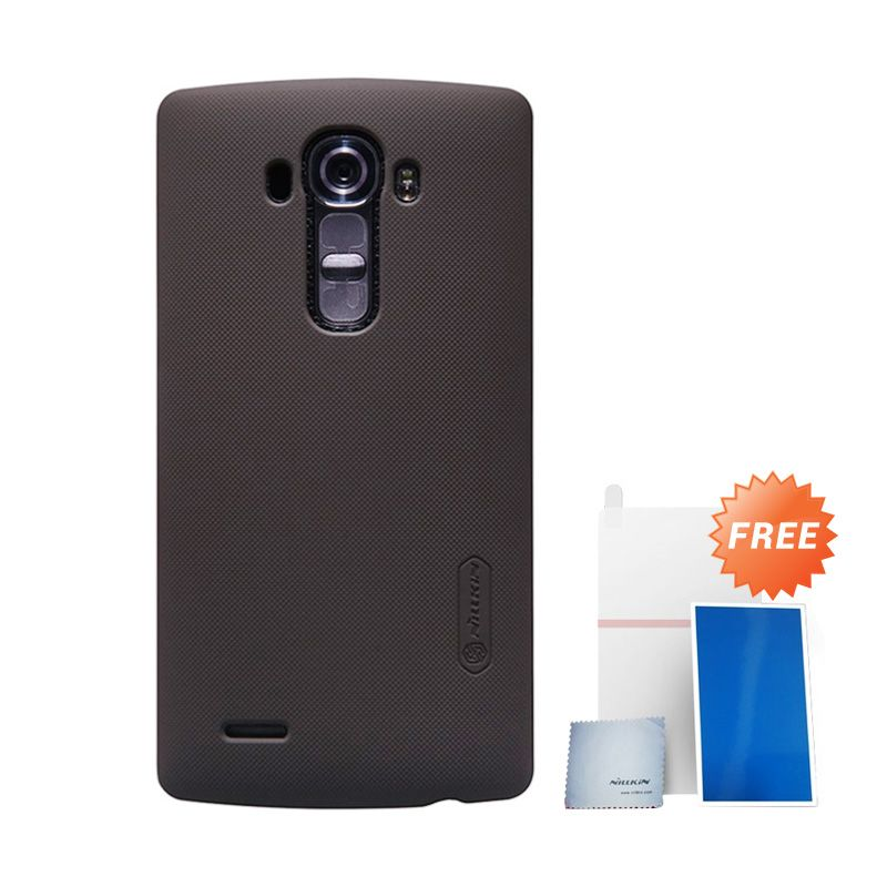Nillkin Super Frosted Shield Brown Casing for LG G4 + Screen Protector