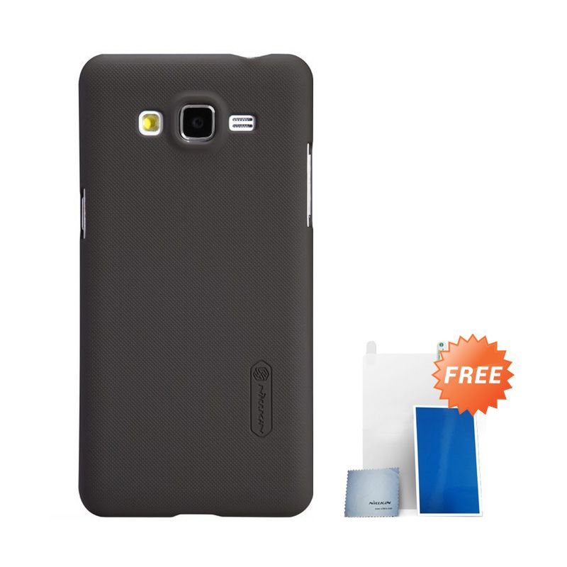 Nillkin Super Frosted Shield Brown Casing For Samsung Galaxy Grand Prime G530H + Anti Gores