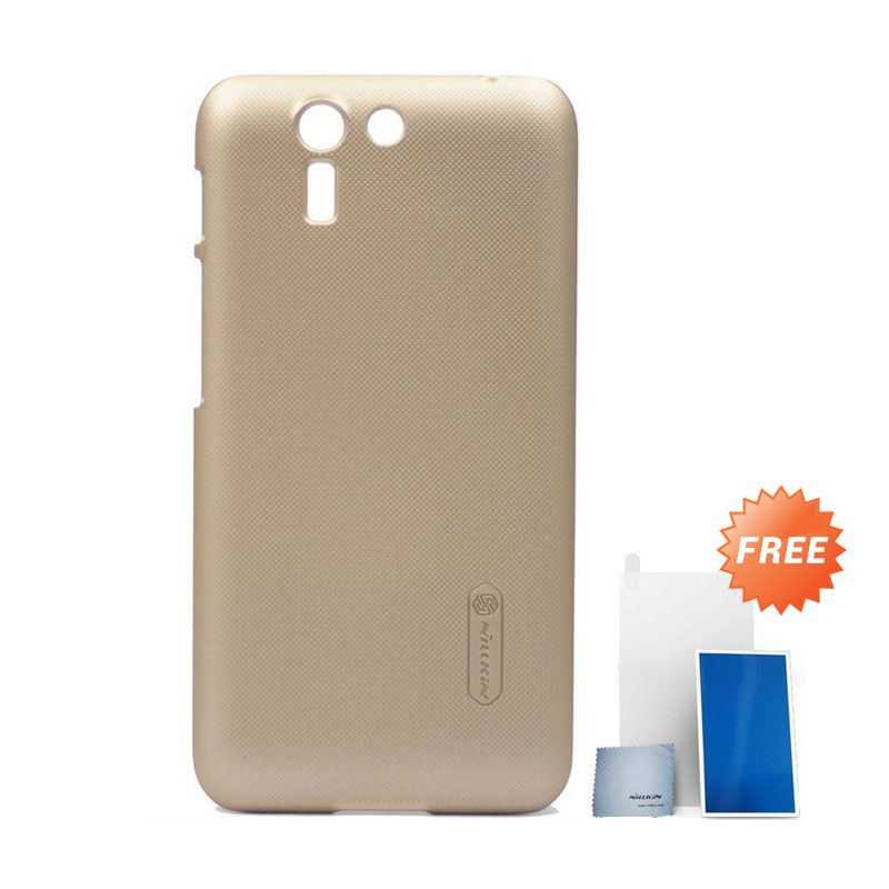 Nillkin Super Frosted Shield Gold Casing for Asus Padfone S + Screen Protector