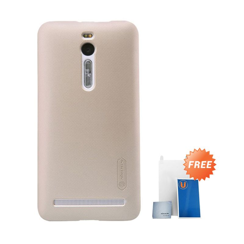 Nillkin Super Frosted Shield Gold Casing for Asus Zenfone 2 ZE550ML/ZE551ML + Screen Protector