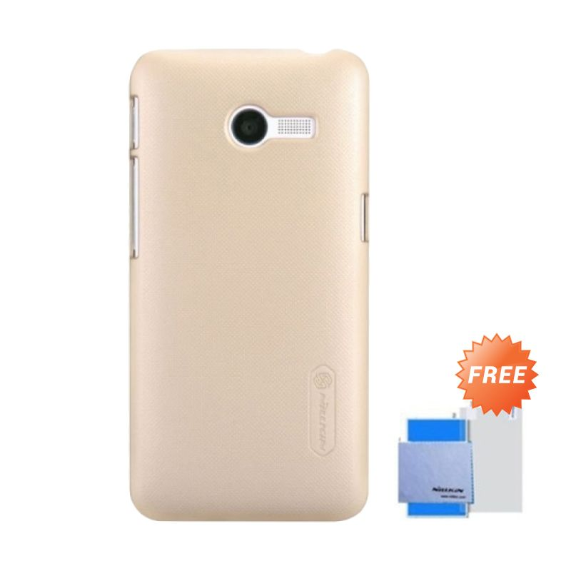 Nillkin Super Frosted Shield Gold Casing for Asus Zenfone 4 + Anti Gores