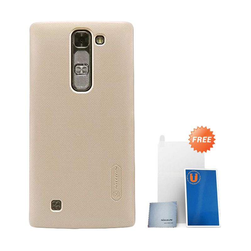 Nillkin Super Frosted Shield Gold Casing For LG Magna + Anti Gores