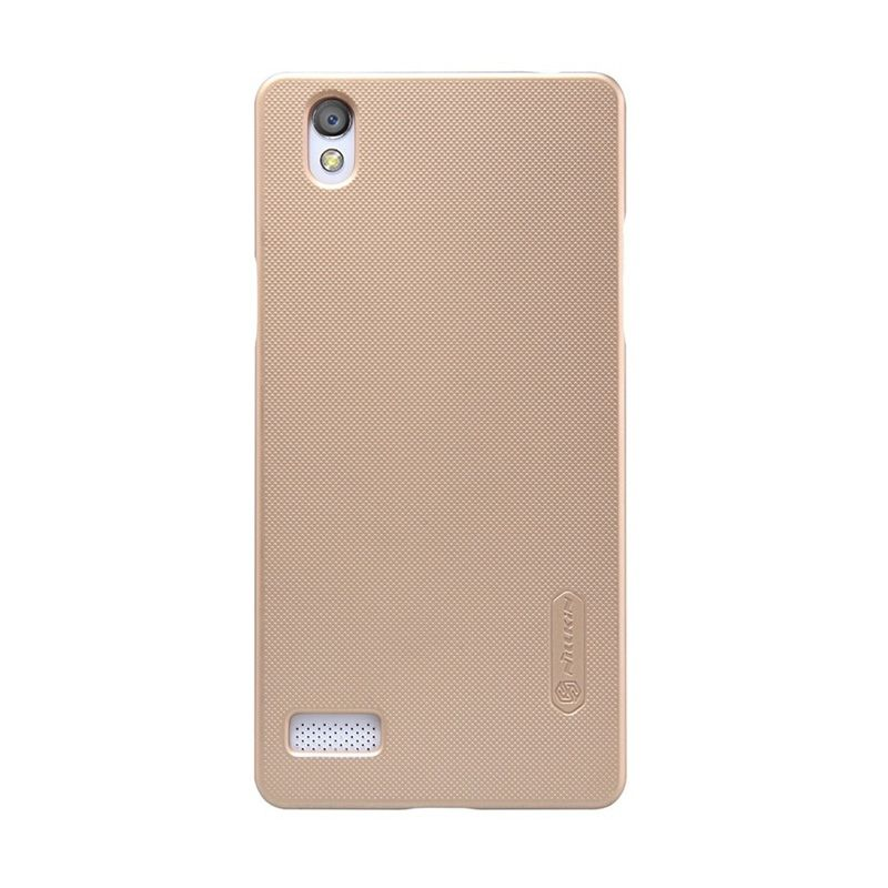 Nillkin Super Frosted Shield Gold Casing for Oppo Mirror 5 + Anti Gores