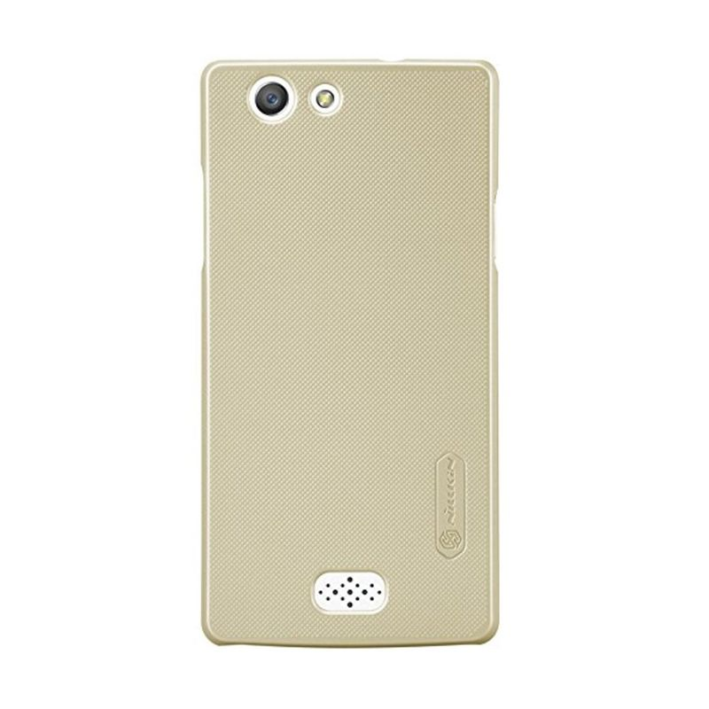 Nillkin Super Frosted Shield Gold Casing for Oppo Neo 5 + Anti Gores