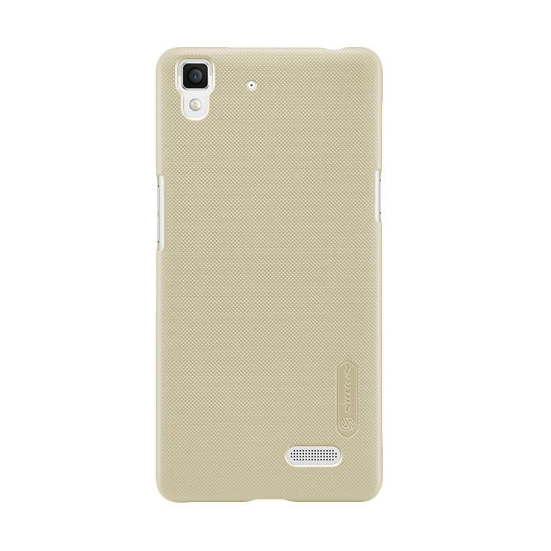 Nillkin Super Frosted Shield Gold Casing for Oppo R7 + Anti Gores
