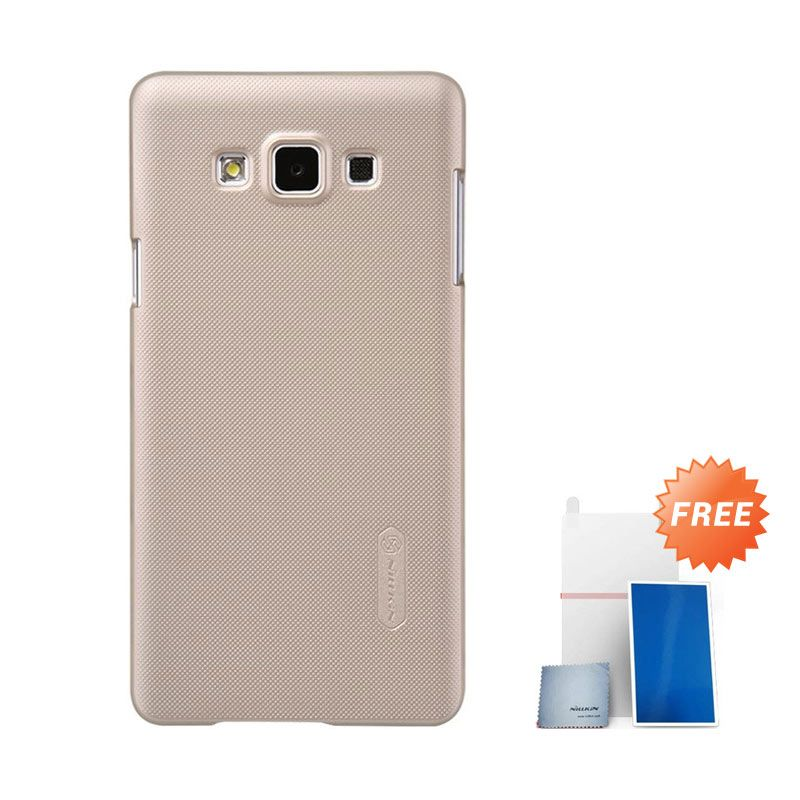 Nillkin Super Frosted Shield Gold Casing for Samsung Galaxy A7 + Nilkin Screen Protector