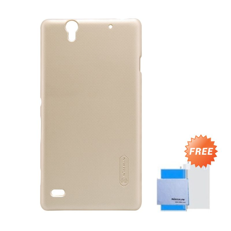 Nillkin Super Frosted Shield Gold Casing for Sony Xperia C4 + Anti Gores