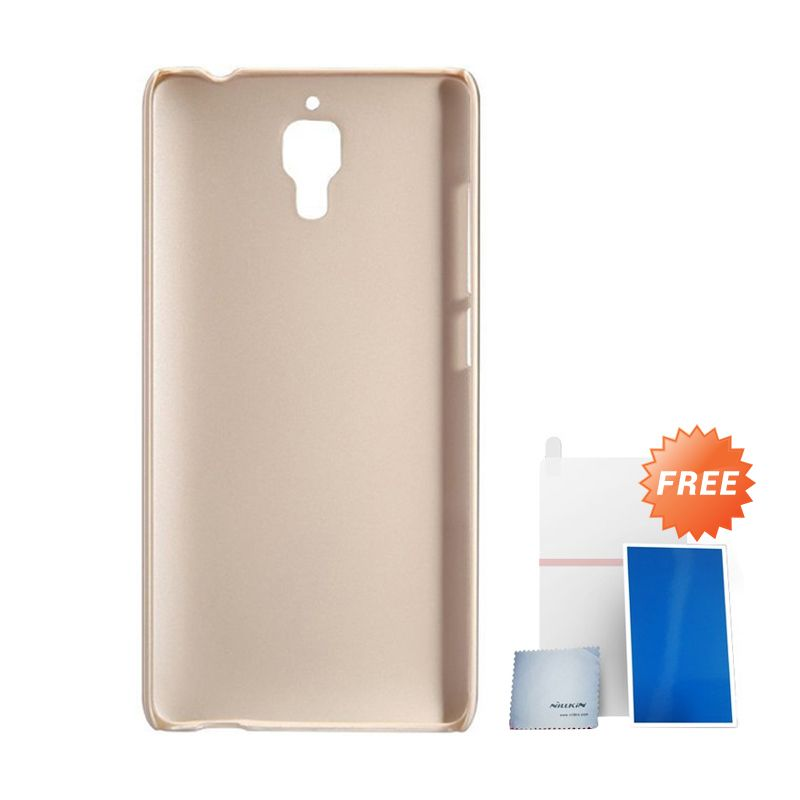 Nillkin Super Frosted Shield Gold Casing For Xiaomi M 4 + Anti Gores