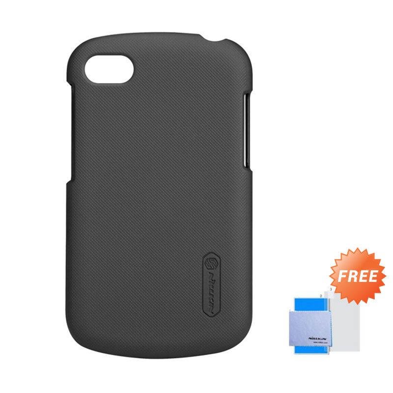 Nillkin Super Frosted Shield Hitam Casing for Blackberry Q10 + Screen Guard