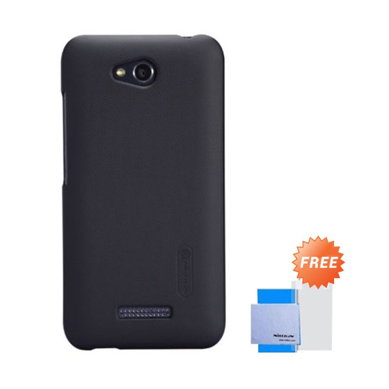 Nillkin Super Frosted Shield Hitam Casing for HTC Desire 616 + Anti Gores