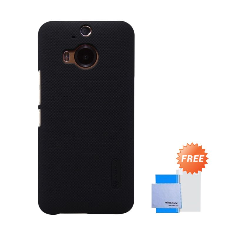 Nillkin Super Frosted Shield Hitam Casing for HTC One M9 Plus + Anti Gores