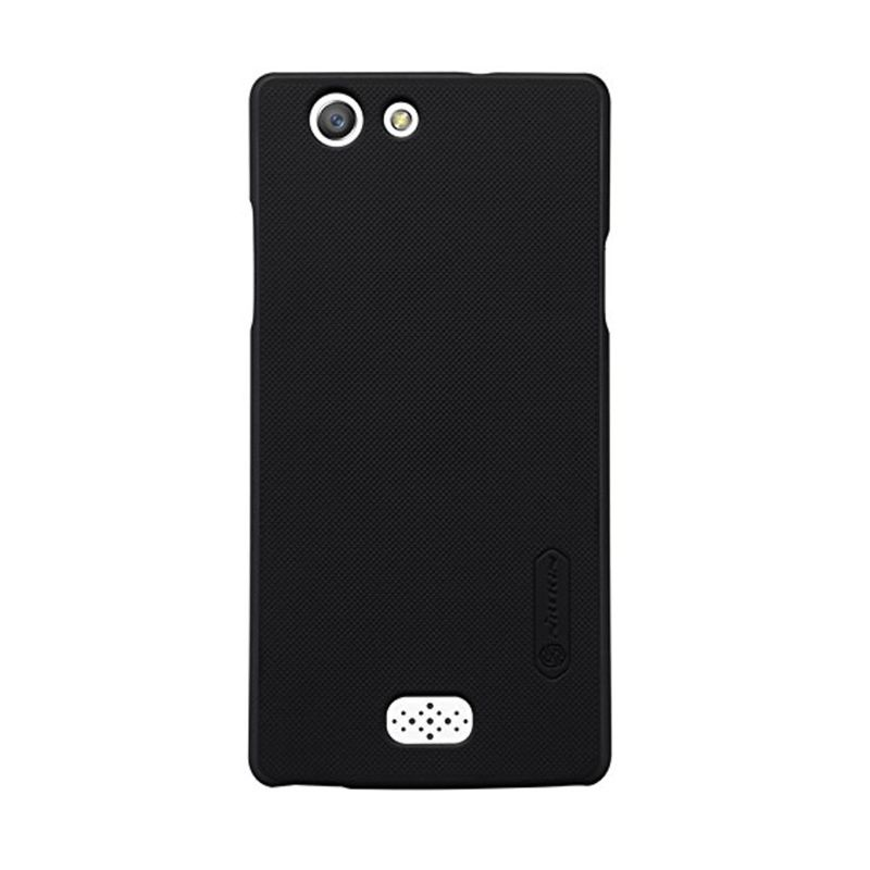 Nillkin Super Frosted Shield Hitam Casing for Oppo Neo 5 + Anti Gores