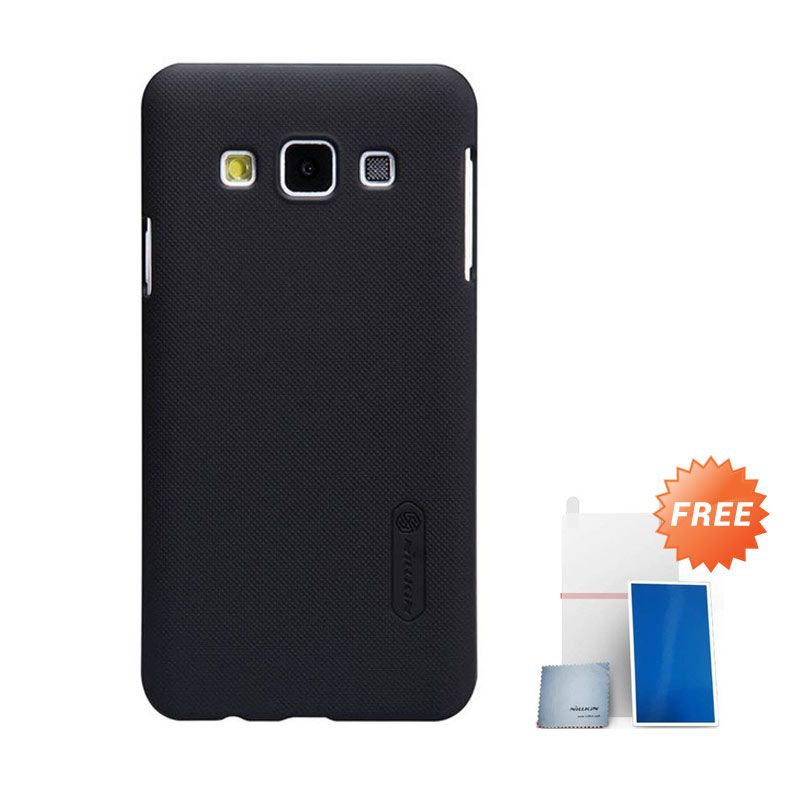 Nillkin Super Frosted Shield Hitam Casing for Samsung Galaxy A5 + Nilkin Screen Protector