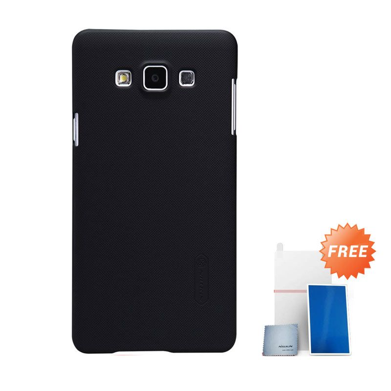 Nillkin Super Frosted Shield Hitam Casing For Samsung Galaxy A7 + Nilkin Screen Protector