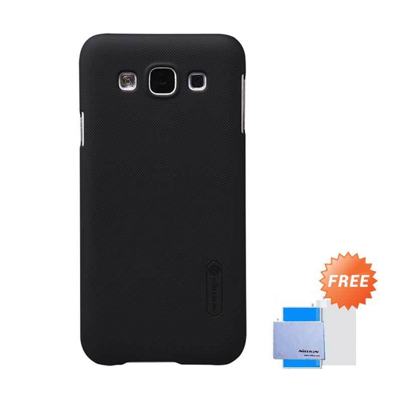 Nillkin Super Frosted Shield Hitam Casing for Samsung Galaxy E5 + Anti Gores