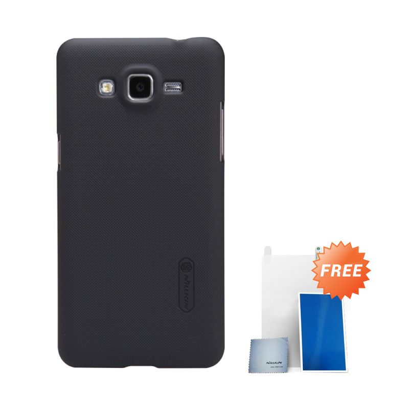 Nillkin Super Frosted Shield Hitam Casing For Samsung Galaxy Grand Prime G530H + Anti Gores