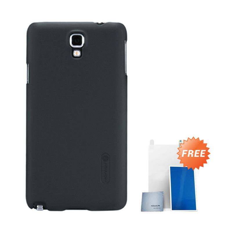Nillkin Super Frosted Shield Hitam Casing For Samsung Note 3 N900 + Nilkin Screen Protector