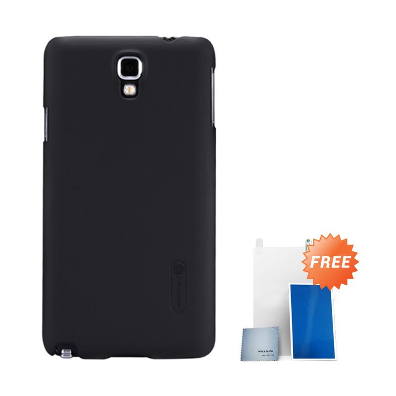 Nillkin Super Frosted Shield Hitam Casing For Samsung Note 3 Neo + Nilkin Screen Protector