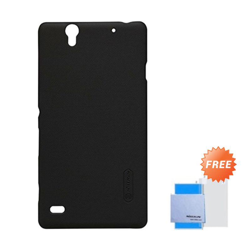 Nillkin Super Frosted Shield Hitam Casing for Sony Xperia C4 + Anti Gores